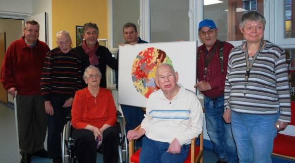 Künstlerinnen und Künstler aus dem Atelier der Farbentänzer