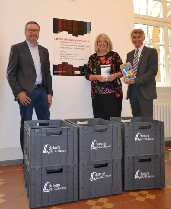 Markus Siebert, Ilona Friedrich und Joachim Bertelmann (von links) freuen sich auf viele Bücherspenden