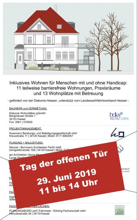 Bauschild Landgraf-Karl-Straße: Tag der offenen Tür