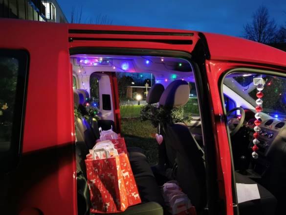 Der Caddy war bunt geschmückt Foto: Anna Gerhardt
